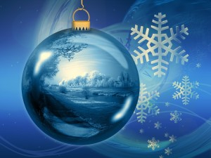 Winter Ornament Scene